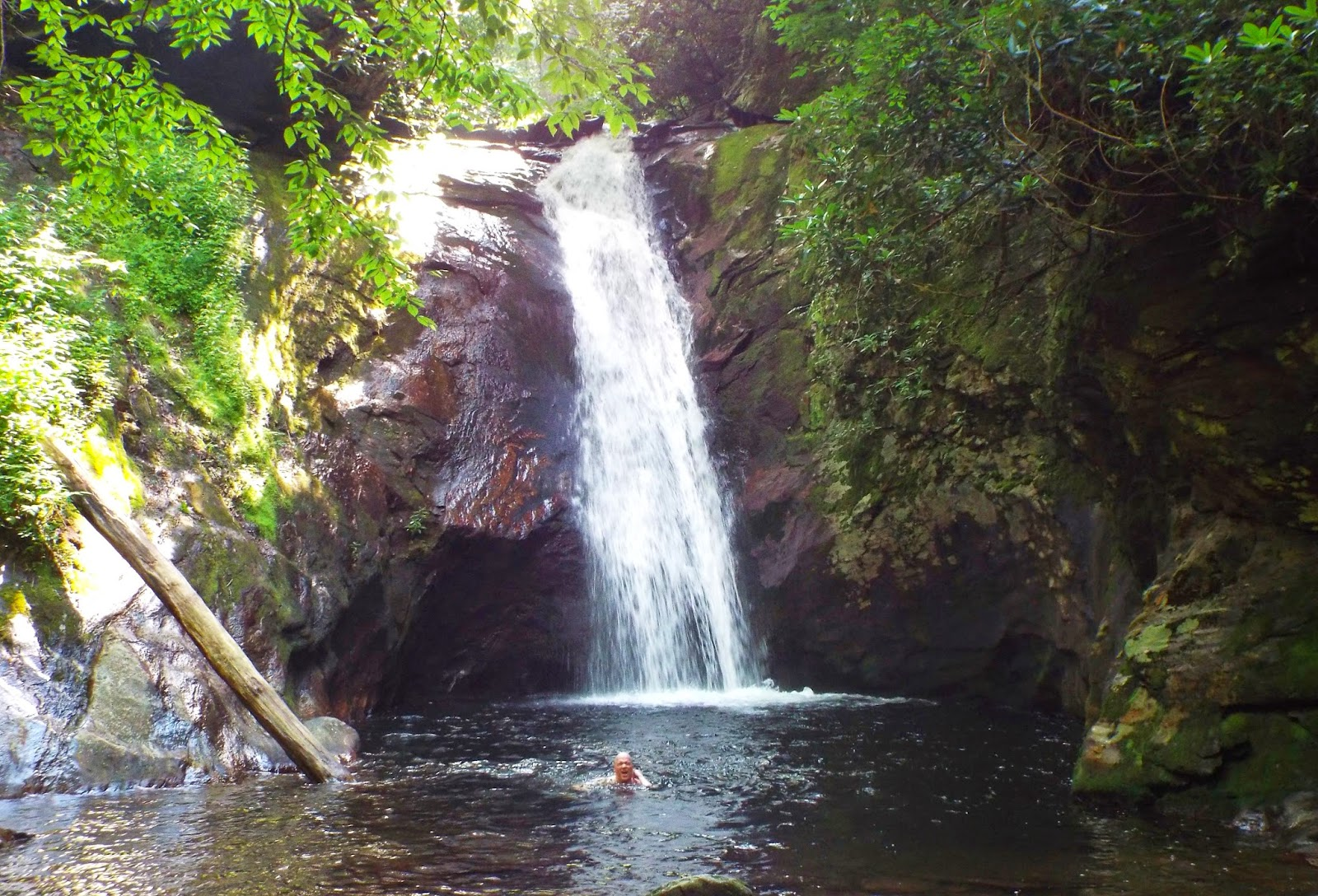 Swimming at Courthouse Falls