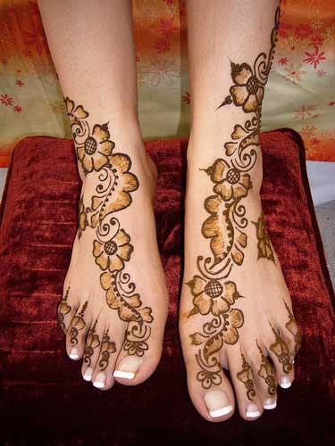 Mehndi Designs For Feet Toes : Simple mehndi designs for feet joannerendell