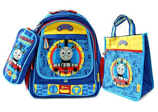 Thomas Friends 3 In 1 School Bag Set Includes X Back Pack Tote With Detachable Sling Pencil Case Link Hook