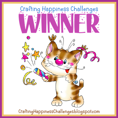 Winner at Crafting Happiness Challenge Blog
