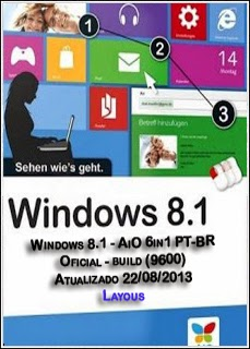 65465413546 Download   Windows 8.1 Pro X86 VL PTBR + Ativação