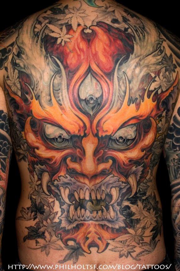 Piercedfish Blog: Hannya Mask Tattoos