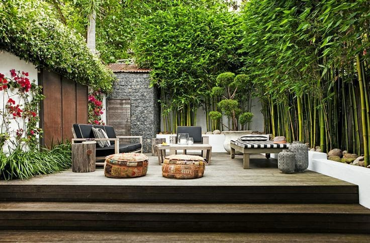 Small City Backyard Garden : exoticjapanese feel for this small city garden, grasses and bamboo