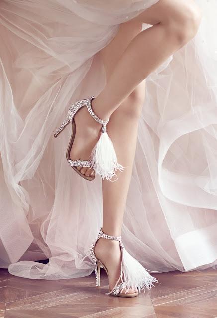 zapatos novia plumas jimmy choo