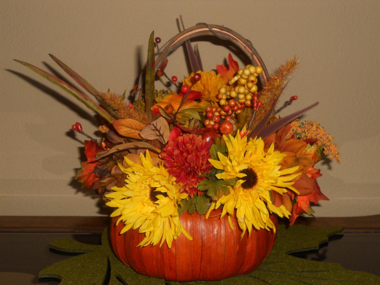 Autumn basket centerpieces crafts picture