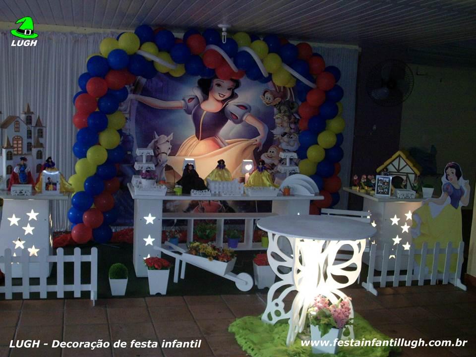 decoracao festa infantil branca de neve provencal: tema Branca de Neve para festa de aniversário infantil de meninas