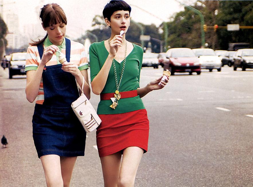ice cream in fashion editorials / Elle Argentina September 2006 (photography: Cecilia Gllik) / via fashioned by love