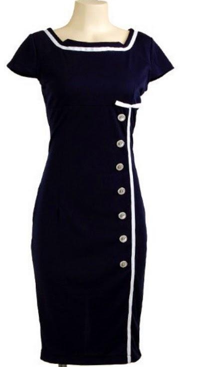 1950s Sailor Dress at Reoria.com