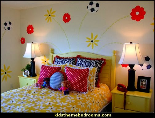 girls sports themed bedroom decorating ideas and decor