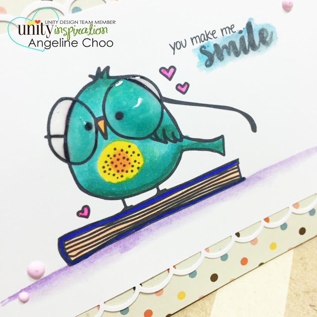 ScrappyScrappy: You make me smile #scrappyscrappy #unitystampco #stamp #card #handmade