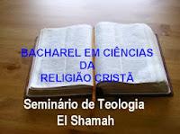 BACHAREL EM CIÊNCIAS DA RELIGIÃO CRISTÃ