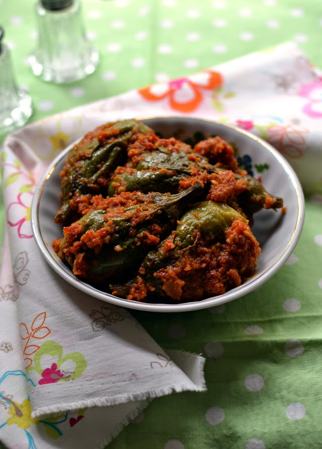 Spicy Eggplant Curry (Vankaya Masala kura)
