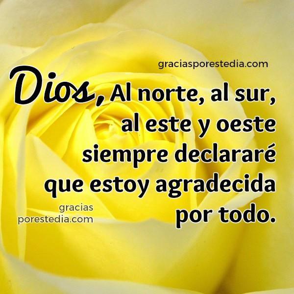 Pensamientos, frases de gracias a Dios, imagen cristiana acción de gracias, mensaje cristiano corto de agradecimiento a Dios, Mery Bracho poemas.