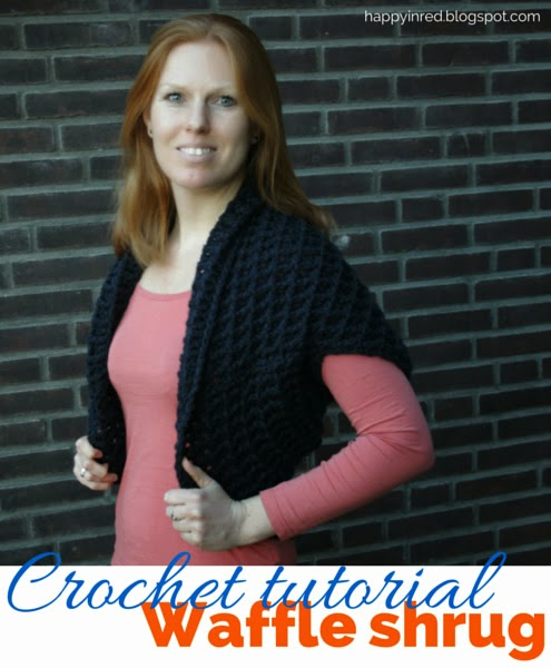 Crochet tutorial: The Waffle Shrug
