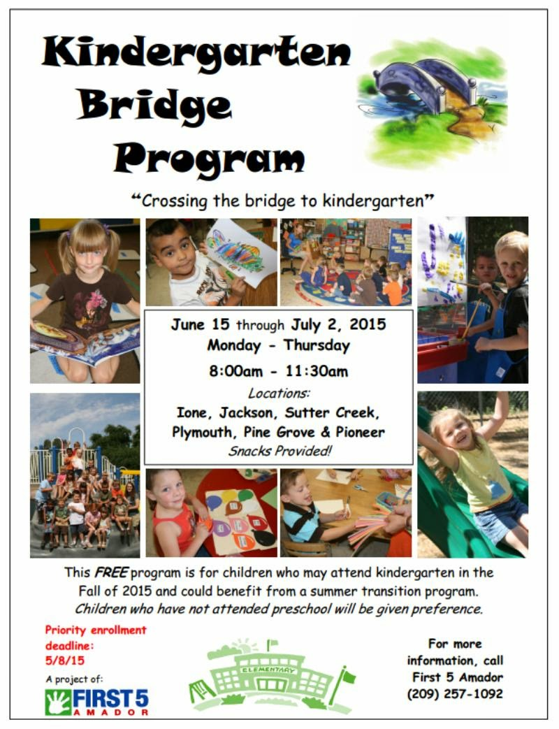 Summer Kindergarten Bridge Program - June 15 thru July 2