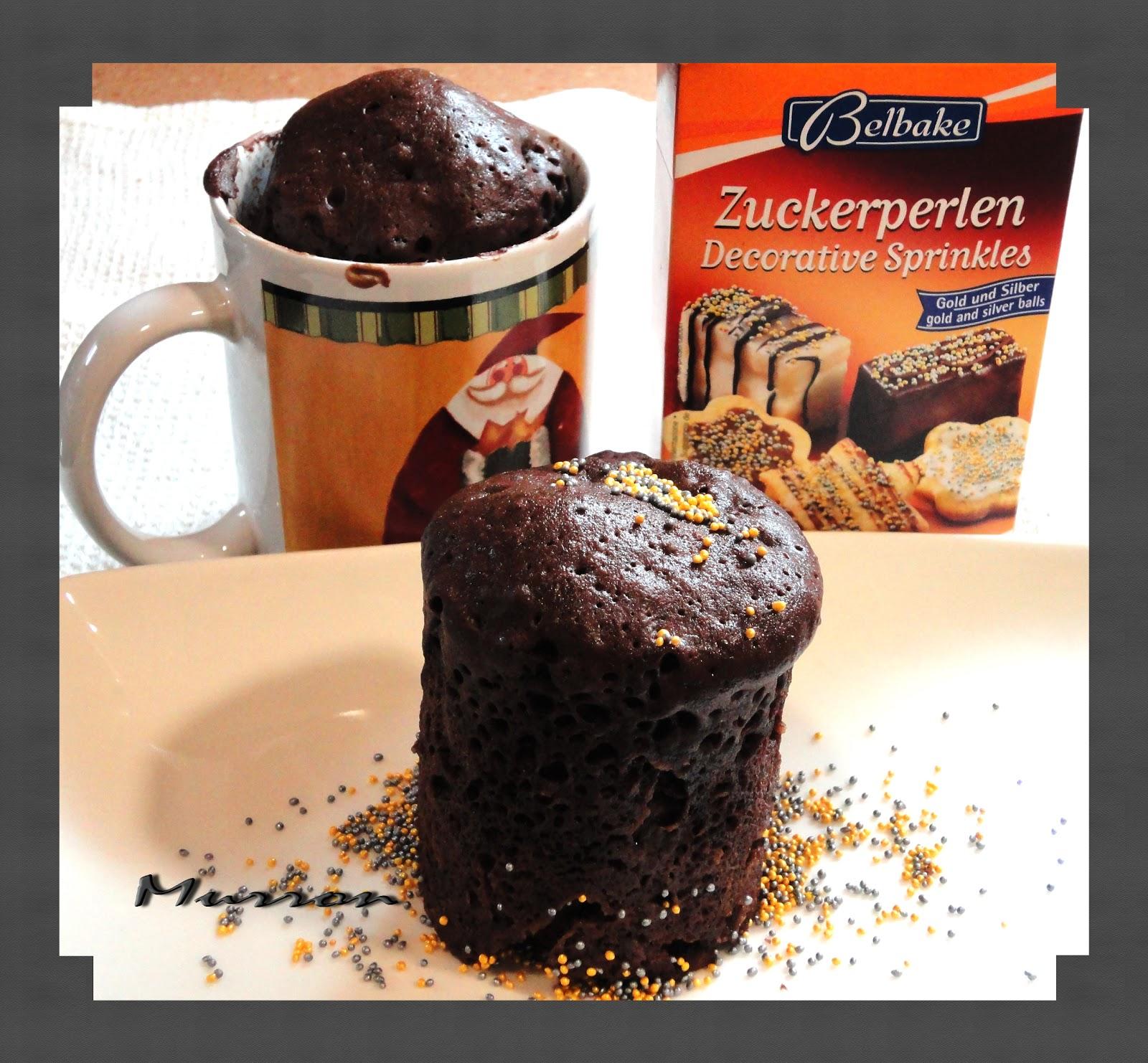 Murron cocina bizcocho en 3 minutos de chocolate en taza - Bizcocho microondas 3 minutos ...