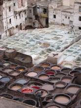 The tanning vats of Fes