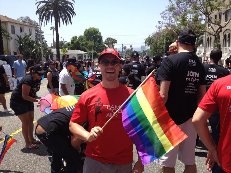 Team to End AIDS LA Pride Parade 2012
