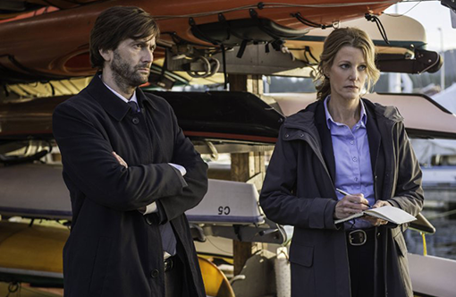 David Tennant y Anna Gunn en Gracepoint