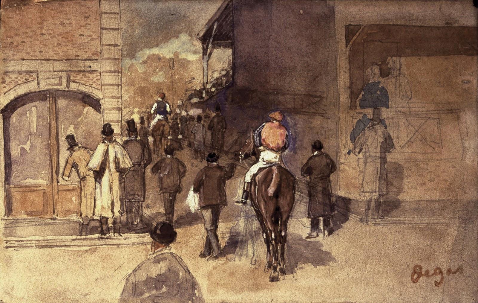 Sortie de pesage, 1866