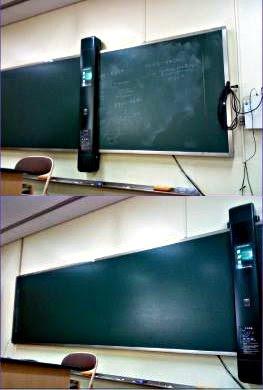 自動黒板消し