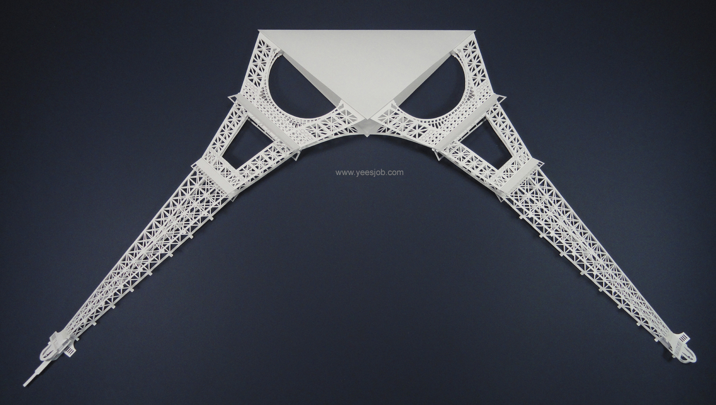 The kingdom of origami architecture eiffel tower origami for Eiffel tower model template