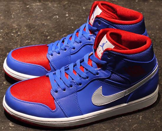 Nike Air Jordan 1 Mid Pistons Game Royal Red White