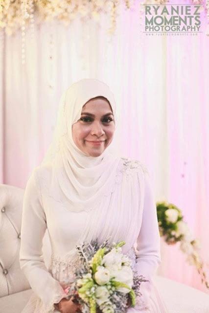 Gambar kahwin anak dara Rosyam Nor.
