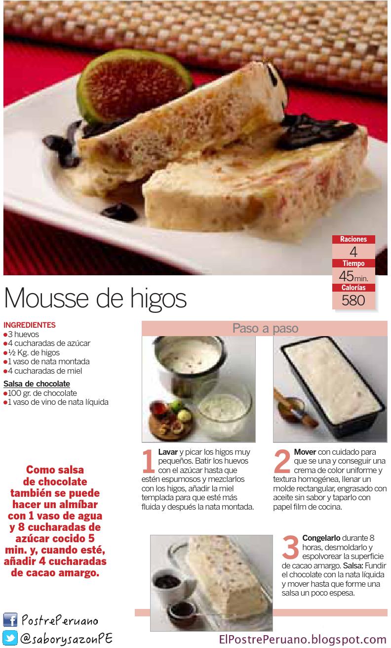 Mousse de Higos - receta sencilla