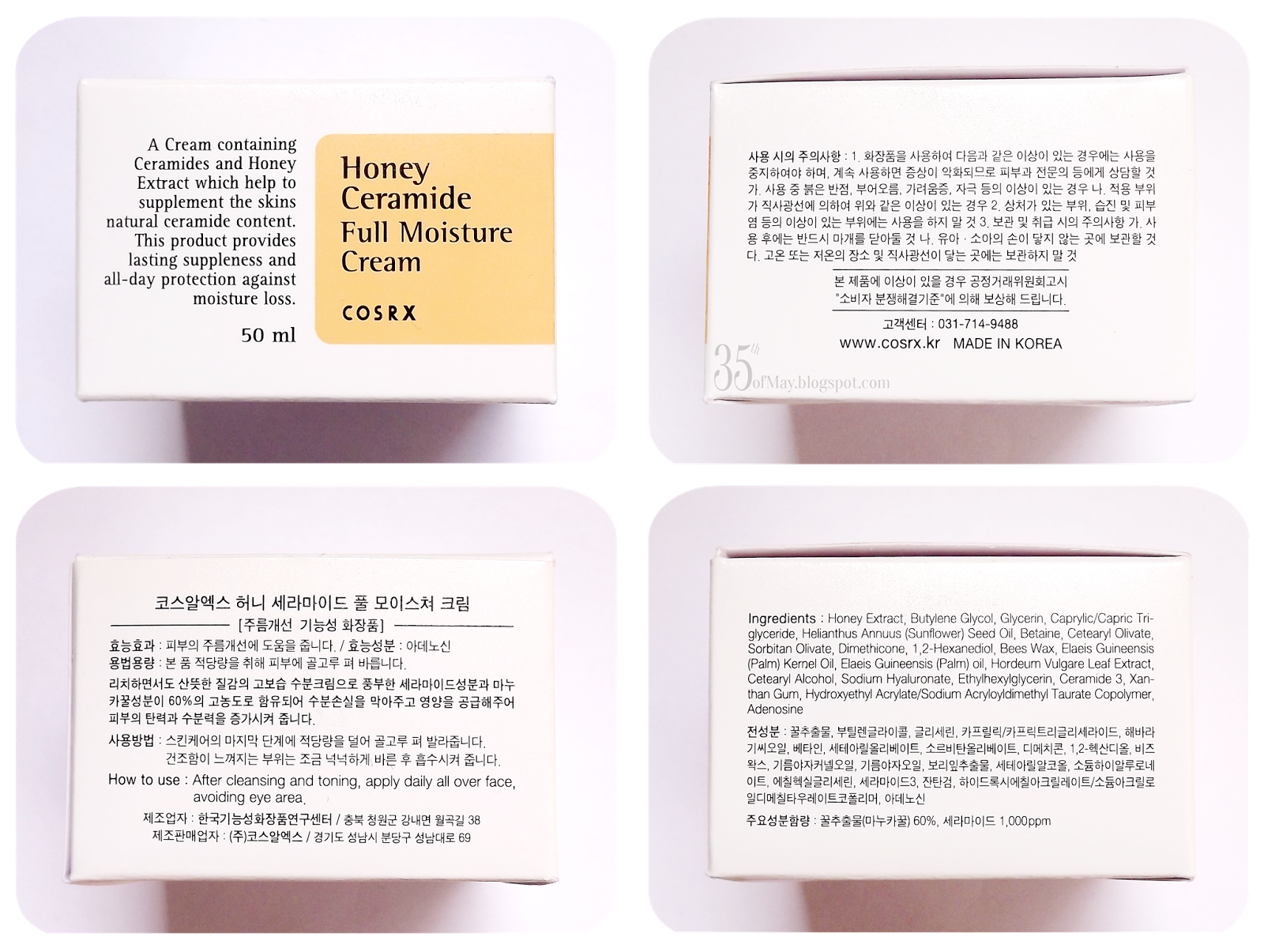 Cosrx Honey Ceramide Full Moisture Cream review