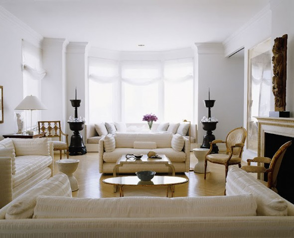 warna putih pada Interior ruang