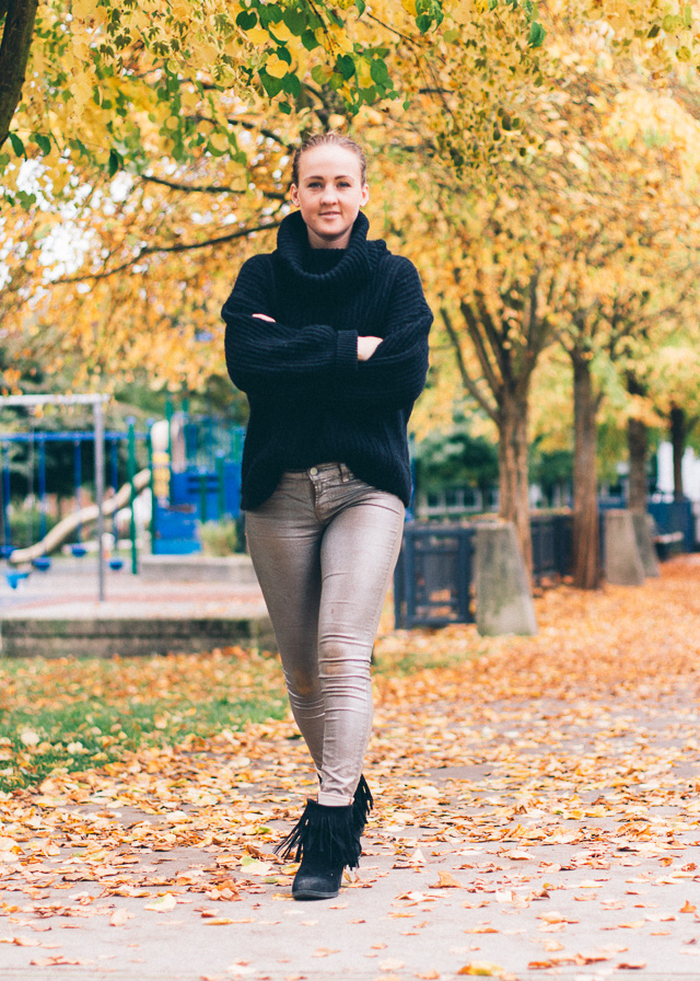 wool turtleneck and fringe boots for a fashionable fall outfit - look by In My Dreams, Vancouver fashion and style blog