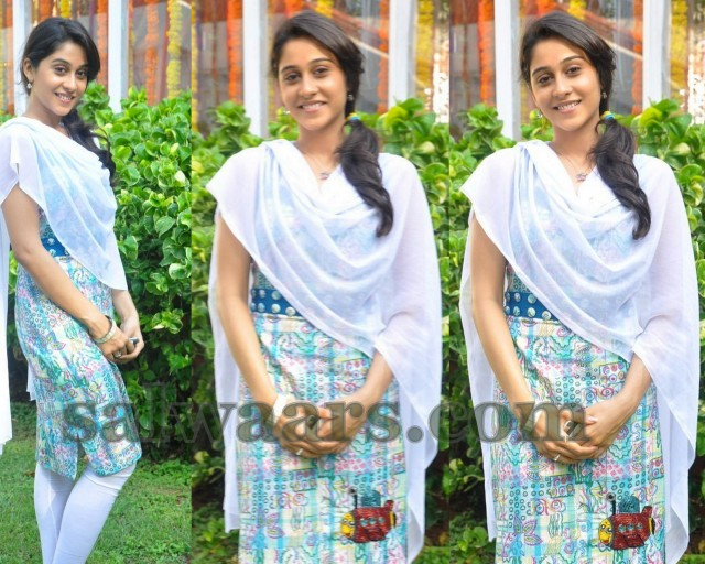 South Indian Actress Regina Multi Color Cotton Casual And Daily