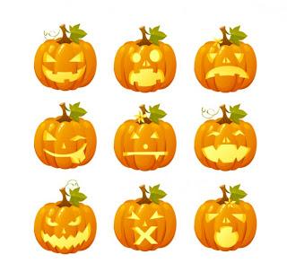 caras para Calabaza de halloween