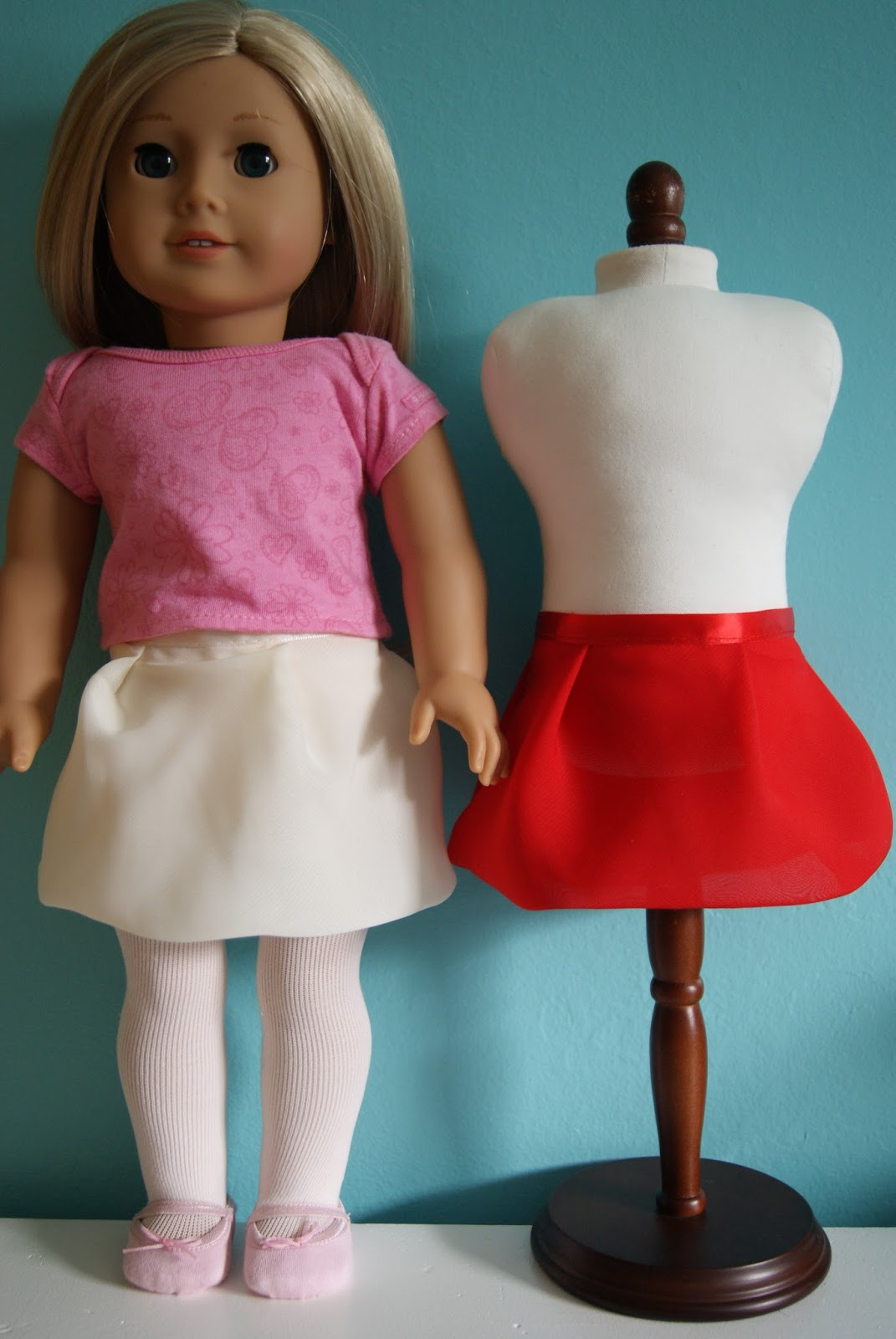 chiffon bubble skirt for 18-inch doll by nest full of eggs