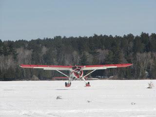 de Havilland Beaver, landing in Ely