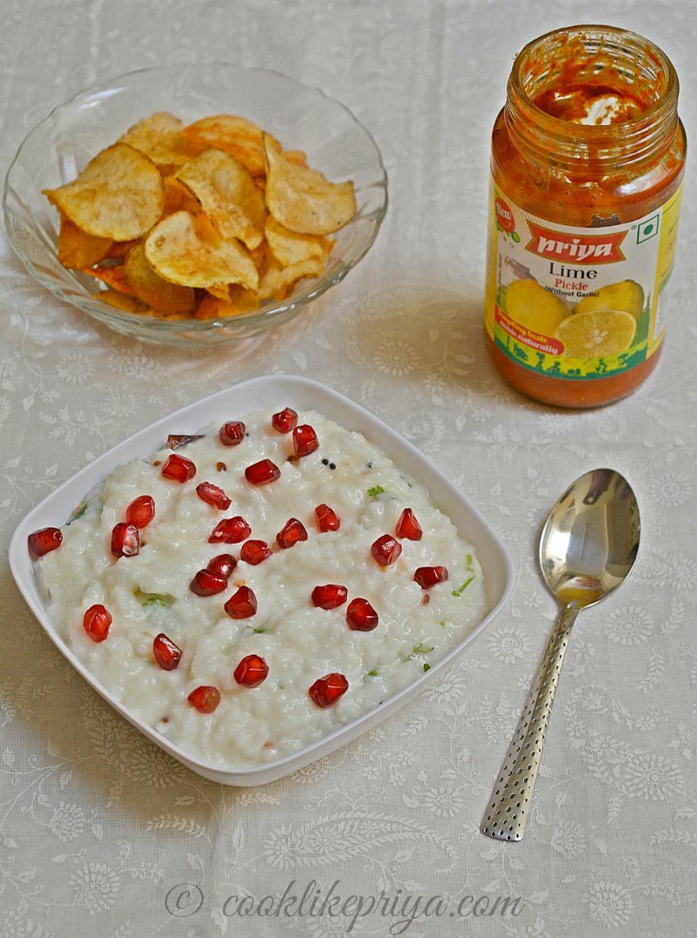 Thayir Sadam Recipe