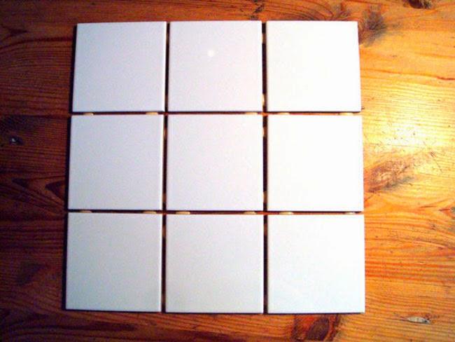 9 azulejos del 10 x 10 cm.