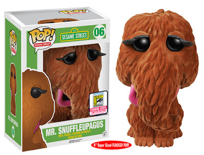 "San Diego Comic-Con 2015 Exclusive Sesame Street ""Flocked"" Mr. Snuffleupagus Pop! Television Vinyl Figure by Funko"