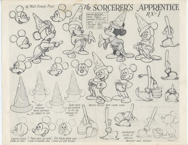 Disney Character Design Apprentice : Mickey mouse from fantasia disney animation art