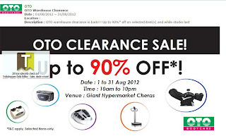 OTO Clearance Sale 2012