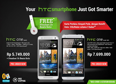 Spesifikasi dan Harga HTC One Mini dan Dual SIM