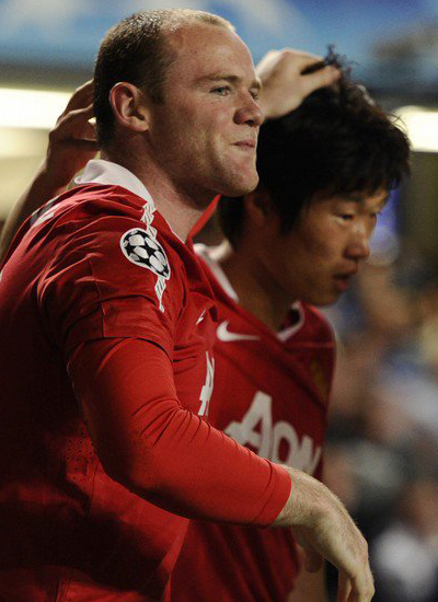 Man Utd champions league quarter finals Rooney Rark Ji Sung