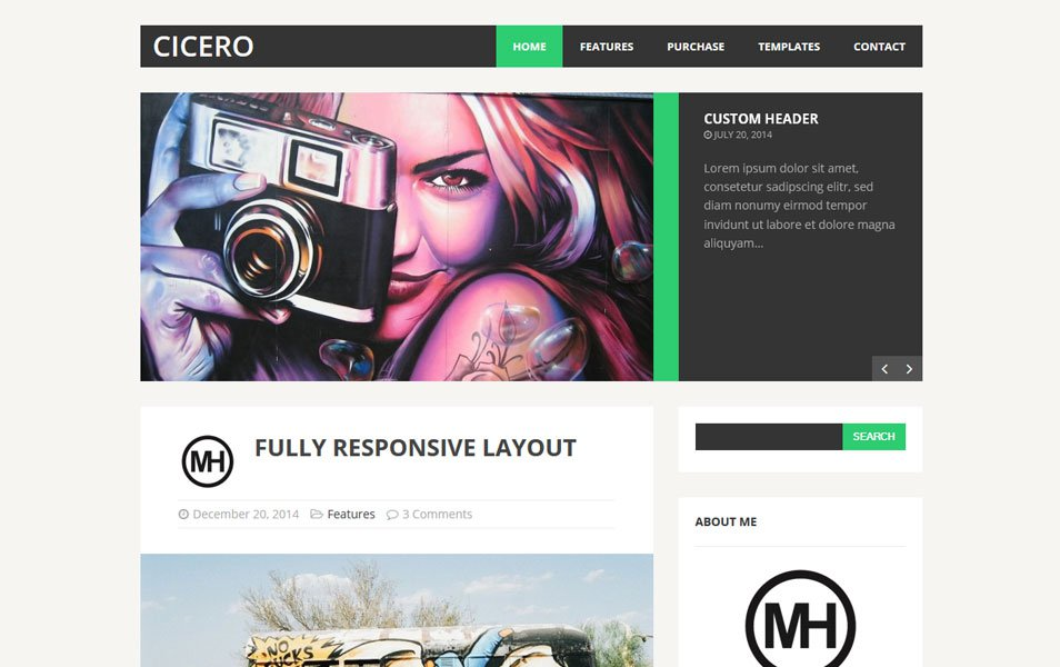 MH Cicero Lite Responsive WordPress Theme