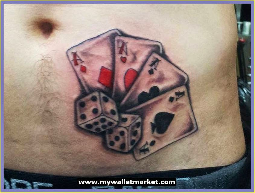 Awesome tattoos designs ideas for men and women amazing for Card tattoo designs