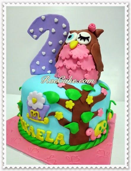 Owl Cake for Mikaela Kue Ulang Tahun Birthday CakeCupcake Cake