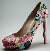 bird of paradise pump tropical style shoe