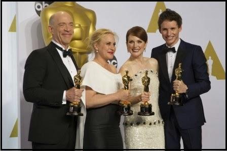 Oscars 2015: J. K. Simmons, Patricia Arquette, Julianne Moore y Eddie Redmayne