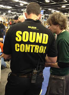 NAMM 2012 sound police image from Bobby Owsinski's Big Picture production blog
