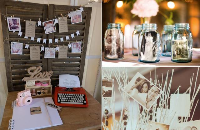 polaroid decoração casamento